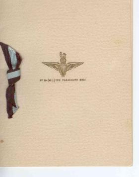 8th Battalion, The Parachute  Regiment, Christmas Card