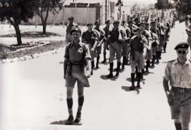 B Coy 3 PARA arriving Waynes Keep Nicosia Cyprus Operation TRIMED 1951