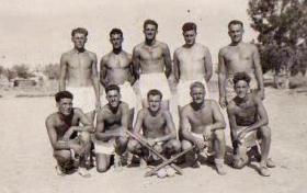 3 PARA softball team, Cyprus, 1951.