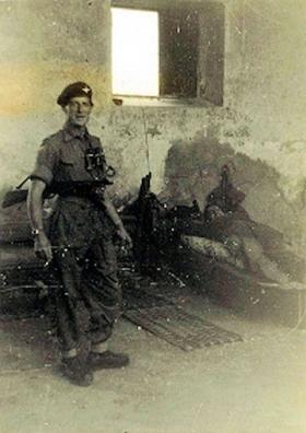 An officer of 3 PARA in Suez (Philip Butterworth?) c1956