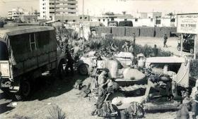 Members of 3 PARA getting ready to leave after the fighting, Suez, 1956.