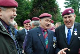 Phil Hannah (far right ), 2 PARA, The Airborne Forces Memorial unveiling at the National Arboretum, 13 July 2012.