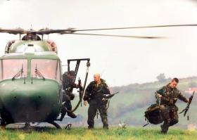 Members of 2 PARA, responding to a road traffic incident, Crossmaglen, 2003.