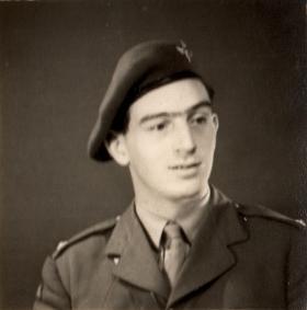 Portrait images of 2nd Lt Richard Fry, 1943.