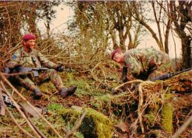 Private Taff Elliott and Corporal David Hardman, 1981