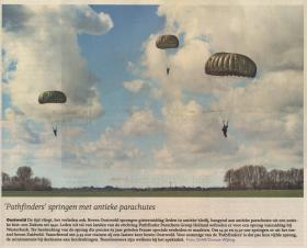 Local Dutch newspaper article covering rehearsal jump for Op Amherst commemoration 2010