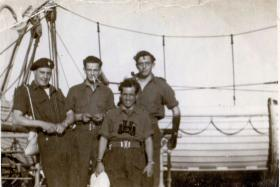 Airborne officers bound for Palestine?, c1945.