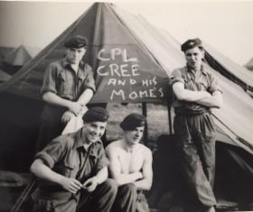 Members of 716 (Airborne) Light Composite Company RASC, Palestine c1946.