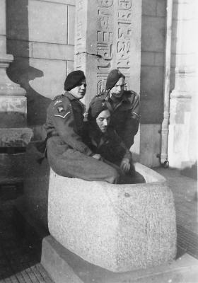 Members of 2nd Parachute Brigade in the Egyptian Museum Cairo, February 1946