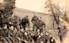 Members of Lt Fry's 3 Platoon A Coy 8th Parachute Battalion, pre Normandy, c1944