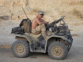 Private Dan Bradley, Op Herrick VIII, Afghanistan 2008.