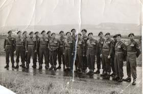 Group photograph believed to be of men from the 13th Parachute Battalion