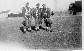 Ready to Jump. Possibly members  the 7th (Light Infantry) Parachute Battalion.