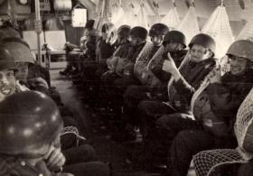 23 PFA on board a Beverley to Jordan 1958