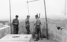 Guardsmen of Guards Parachute Company at on observation post in Hong Kong, 1968
