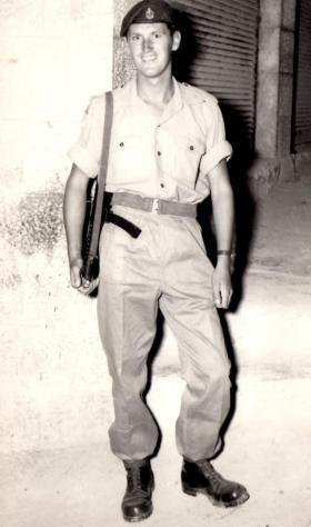 Bryan Fradgley in Amman, Jordan 1958
