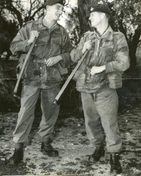 Ian Farnworth with Brian Mercer, C Coy 2 PARA, c1959.