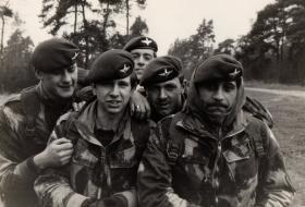Group from 2 PARA, B Company at Long Valley, Aldershot, 1976