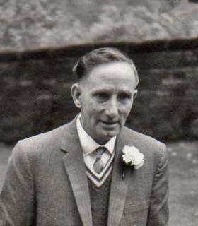 Frederick Edwards at his daughter's wedding, 1965.