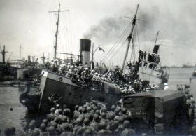 Jewish Immigrant ship, Palestine, date unknown.