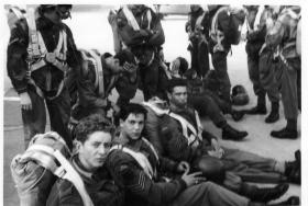 Members of 289 Parachute Regiment RHA prior to emplaning Cyprus 1960s