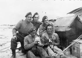 Members of 2nd Parachute Brigade in camp, Gaza District, February 1946