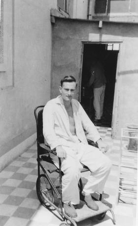 Pte Francis Wood recuperating in hospital Foggia Italy 1945