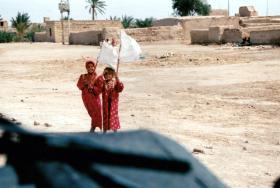 A few days into the Iraq invasion, 2003.