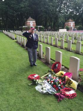 Harold Padfield's ashes interned at Oosterbeek Cemetry, 16 September 2015.