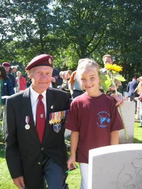 Norman Swift at the Arnhem 60th Anniversary Memorial Service, 2004
