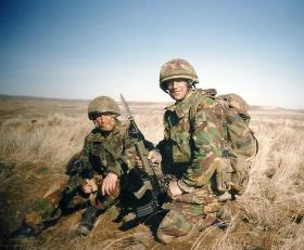 Richy Clatworthy and Craig Iredale, B Coy 1 PARA, Yakima USA, 1996.