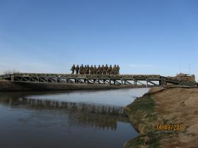 1 Troop, 51 Para Sqn RE on a 14 Bay Double Storey Medium Girder Bridge, Afghanistan 2010-11.