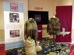 Museum display at the reception for Major Tony Hibbert's Memorial Service, Saturday 28 February 2015.