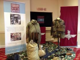 Museum display at the reception for Major Tony Hibbert's Memorial Service, Saturday 28 February 2015.