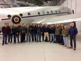 Members of B Company, 4 PARA visit to Airborne Assault Duxford, 3 December 2016.