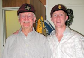 Airborne Grandfather and Grandson, Bill Mackay and Brendan, Sydney, Australia.
