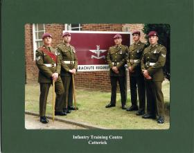 Members of Para Company Staff, The Infantry Training Centre Catterick (ITC Catterick), 1998.