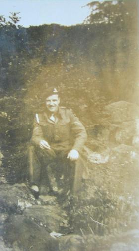 L/Bdr Lord in England shortly before his death, March 1945.