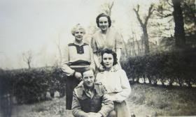 L/Bdr Lord with his wife and in laws, March 1945.