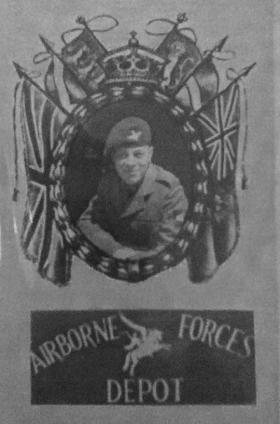 Pte Harry Fynn posing for Airborne Forces Depot photo