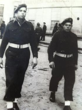 Pte John P Watson (on right) with colleague  possibly In Greece c1945