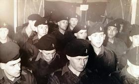 274 Pln, Recruit Coy during a training lecture, Film Room, Maida Bks, 1964.