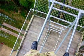 Perspective shots from 60ft up on the Trainasium, Catterick, May 2013.