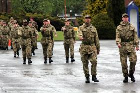 Drill Test for 760 Primosole Platoon during week 6 of training, Catterick ITC, 2013.