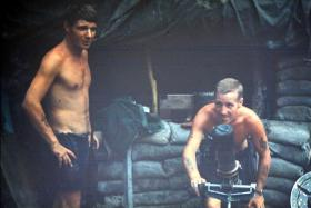 Joe Forshaw and John (Piggy) McDonald, 2 PARA, Borneo, c1965.