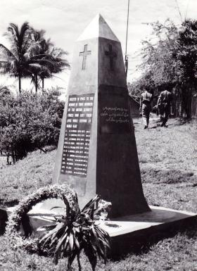 Memorial to the members of the Security Forces who lost their lives while serving at Nanga Gaat, Borneo, 1965.