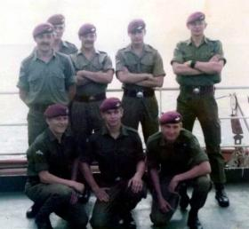 Members of 2 PARA on-board  MV Norland on route to the Falkland Islands, April 1982.