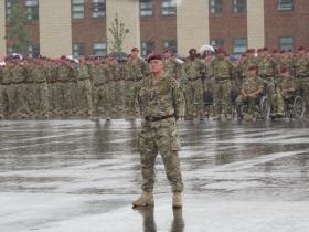 The Battalions Formed up for the Medals Parade, Including Wounded Soldiers, Colchester, June 2011