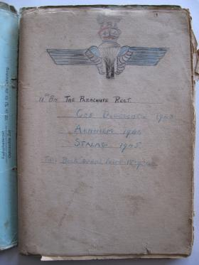 The Cover of the Diary Kept by Pte Short whilst in Captivity