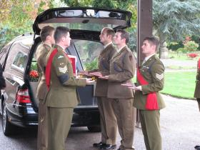 Photographs of the Pall Bearer Party for Maj Timothy's funeral, 3 Nov 2011